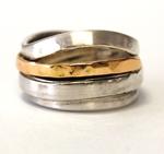 Spiralring aus Silber und Gold. Gr.56 , 259,- €